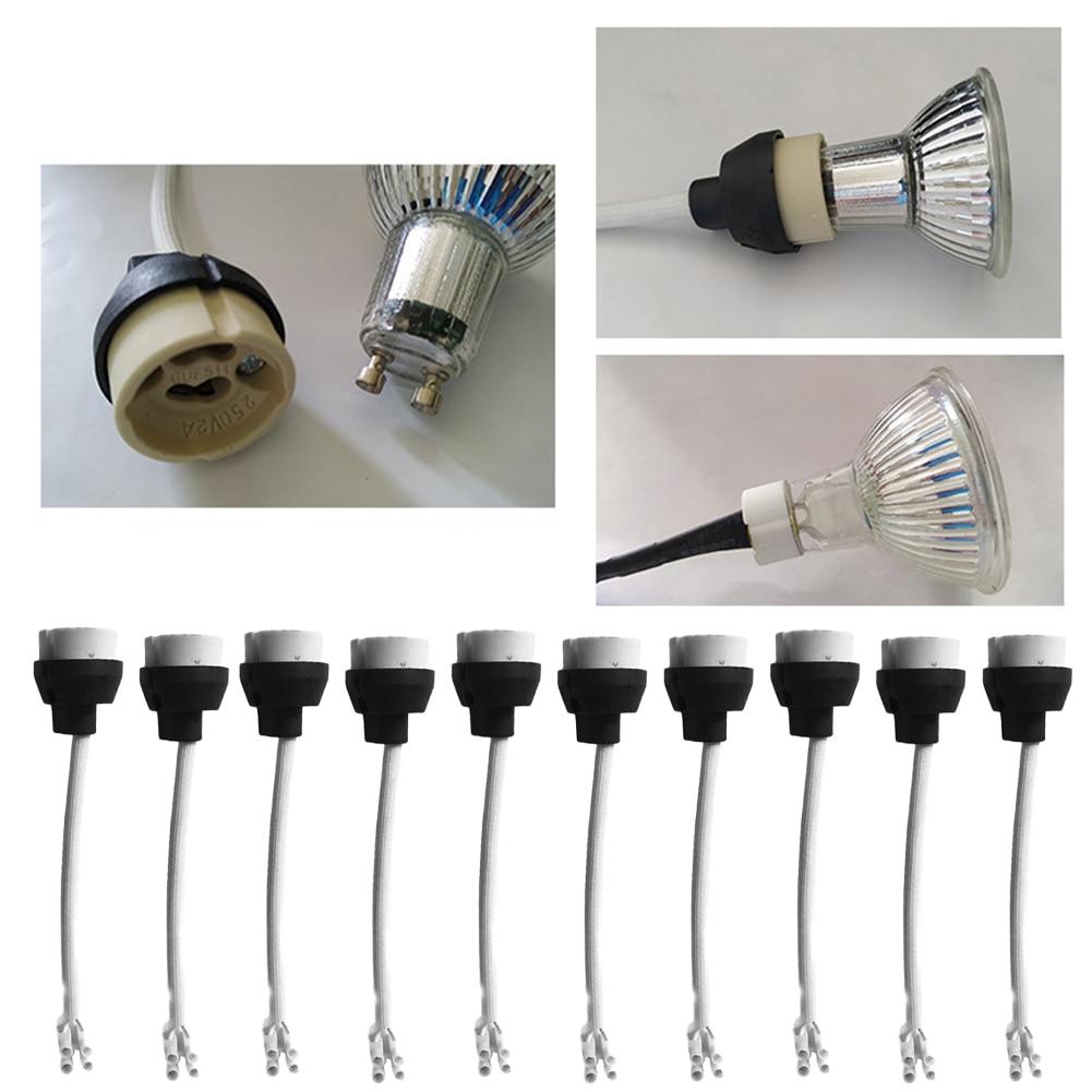 10pcs Lamp Holder 220V LED Spotlight Heat Resistant For GU10 Bulb Accessories