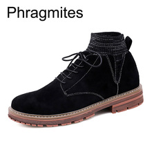 Phragmites Warm Winter Shoes Men Autumn Fashion Boots Genuine Leather Outdoor Botas Mujer Black Ankle