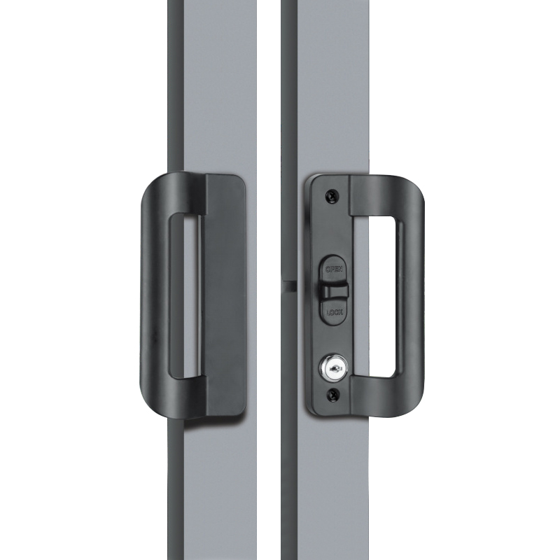 Aluminum Alloy Sliding Door Lock Handle Anti-theft Door Latch locK Door Pull Locks Aluminum Frame Door Home Furniture Hardware