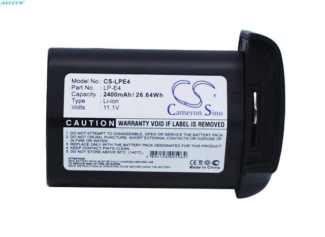 Cameron Sino 2400mAh batterie LP E4 pour Canon 540EZ, 550EX, 580EX, 580EX II, marque de EOS 1D IV, EOS 1D X, MR 14EX, MT 24EX
