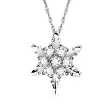 Frozen Snowflake Christmas Gift Fashion Luxury Fashion Choker na strasy dla dziewczynek łańcuszek z wisiorem naszyjnik dla kobiet hurtowni(China)