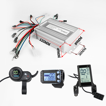 Kunray EBike BLDC Controller 9Mosfet 24V-48V 500W LCD Display Finger Throttle for Electric Scooter Bicycle Accessories Parts Kit 350w bicycle brushless controller ebike display kit 24v 36v 48v scooter motor controller lcd display ebike conversion kit
