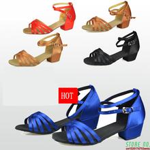 Buty do tańca prezent na boże narodzenie sala balowa łacińskie buty do tańca dziecięce buty satynowe zamszowe oksfordzie niska odporność na zużycie niska cena hurtowa gorąca tanie tanio LINLING WOMEN CN (pochodzenie) Balowej latin buty Zaawansowane Satin Plac heel Średnie (b m) Miękka podeszwa Niskie (3 4 do 1 1 2 )