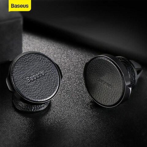 baseus suporte do telefone magnetico de couro universal suporte de montagem do carro magnetico ventilacao