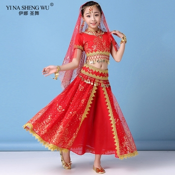 New Style Kids Belly Dance Indian Dance Costume