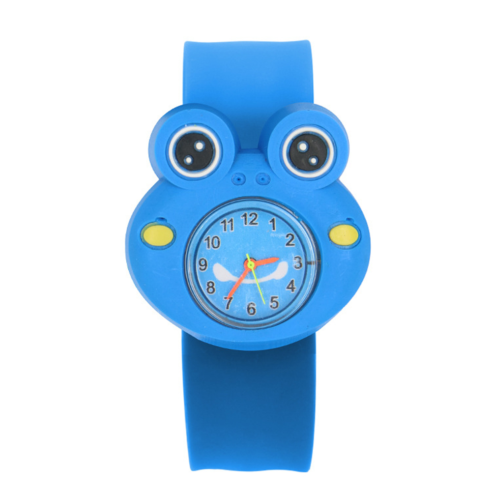 Multi-color Wrist Durable Silicone Tape Interesting Gift 3D Annimals Sweet Cartoon Pattern Children Watch Patted Table Toys