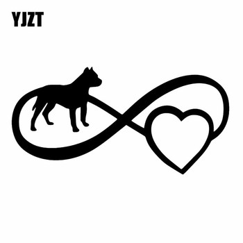 YJZT 16.8X8.3CM Intereting Car Sticker Dog Boxer Pitbull Vinyl Decal Window Bumper Black/Silver C24-1172 image
