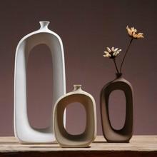 Jarrón de cerámica, mesa Vintage, jarrones de estilo nórdico, jarrón para sala de estar, porche, decoración para el hogar, decoración para bodas, jarrón, artículos de decoración
