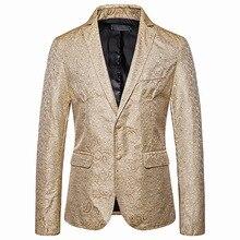 2019 autumn new single button men suits slim fit casual jacket cotton blazer eu size 2xl mens fashion