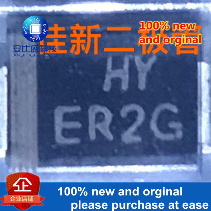 50pcs 100% New And Orginal ER2G 2A400V Ultrafast Recovery Diode DO214AA SMB  In Stock
