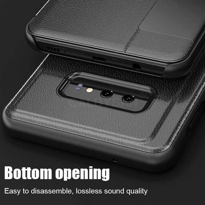 Роскошный кожаный флип-чехол для samsung Galaxy S9 S8 Plus, противоударный чехол для samsung S10 Plus S10e Smart View, чехол для телефона