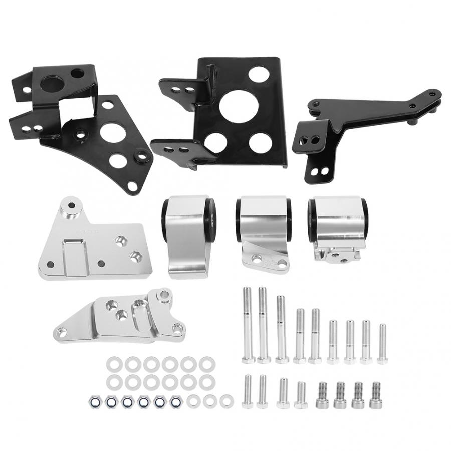 cheapest Aluminum Alloy Engine Mount Bracket Kit Fit For Honda EK Chassis K-Swap Civic 1996-2000 Car modification accessories