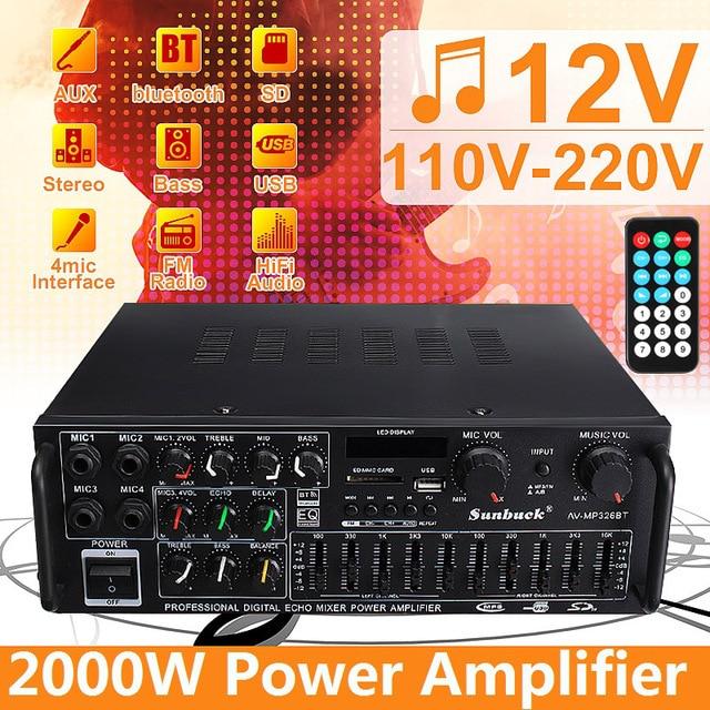 bluetooth 2.0 Channel 2000W Audio Power HiFi Amplifier  1