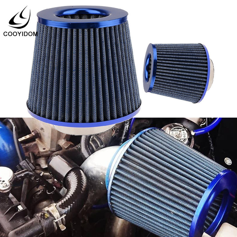 Universal Filtro Aire  Car Air Intake Filter Induction Kit High Power Sports Mesh Cone Mushroom Head Performance High COOYIDOM