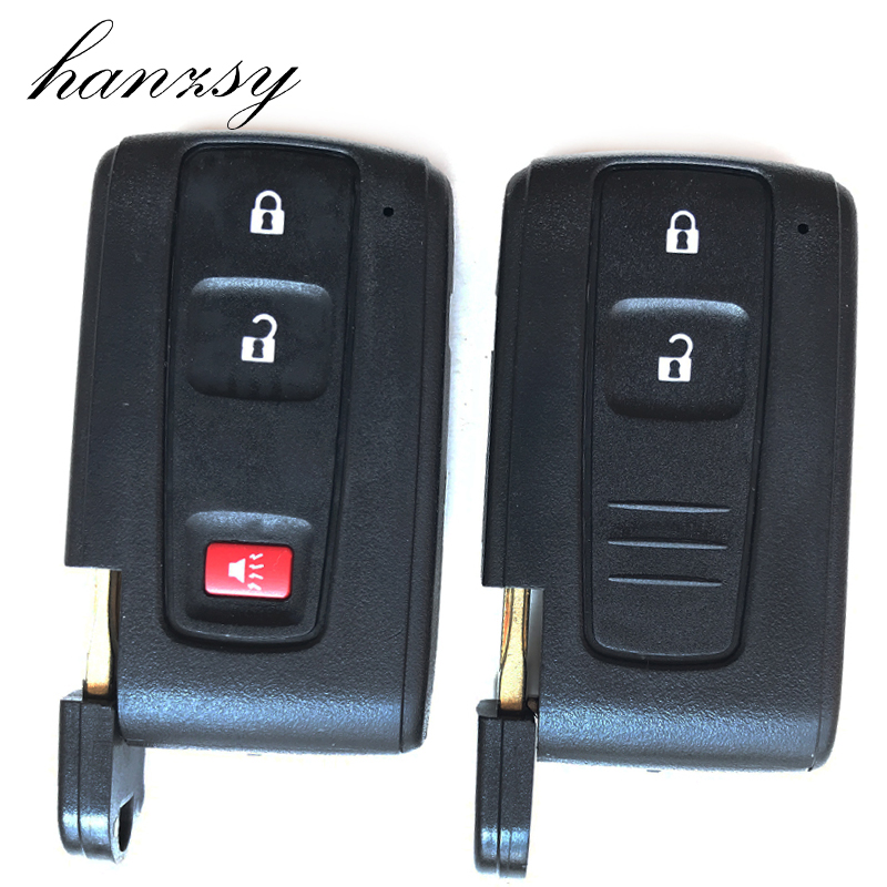 2 3 Buttons For Toyota <font><b>Prius</b></font> 2004 <font><b>2005</b></font> 2006 2007 2008 2009 Remote Key shell blank Fob Car Smart Key Case Cover with Blade image