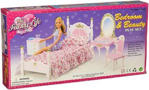 Image 5 - Muebles auténticos para dormitorio de barbie, accesorios para muñecas de princesas, 1/6 bjd, mini tocador, armario, juguete infantil regalo