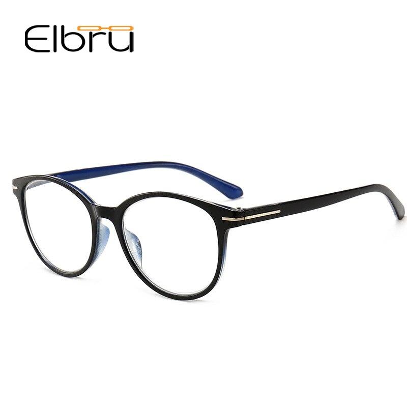 Elbru модные очки для чтения, анти-синий ультра-светильник, полимер, компьютерные очки, брендовый дизайн, светильник, очки 1,0 1,5 2 2,5 3,0 3,5