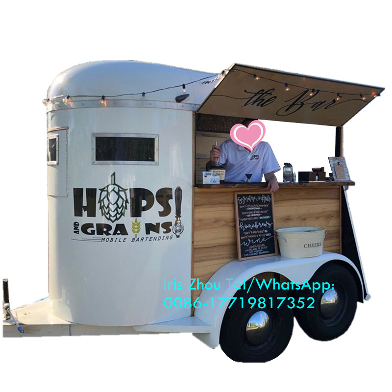 Customized Street Mobile Vintage Food Cart Trailer, Coffee Vending Trailer For Sale