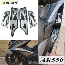 Motorbikes pedal frente e traseira apoio para os pés passo da motocicleta floorboards pé pegs para kymco ak550 kymco ak 550 2017 2018