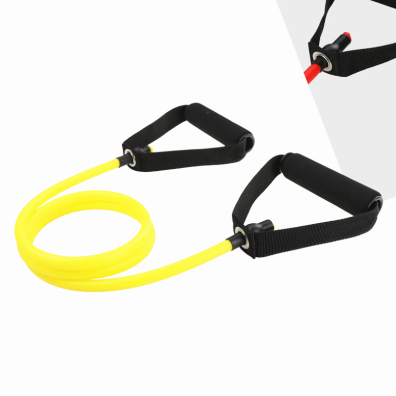 120cm Tensile Expander Yoga Pull Rope Elastic Resistance Bands Fitness Crossfit Workout Exercise Tube Practical Training Rubber