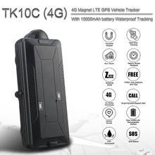 Rastreador gps TK10C 4G con impermeable para vehículo, 10000MAH, navegador gps, rastreador gps de coche en tiempo real, largo tiempo de reposo