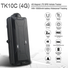 TK10C 4G gps tracker with waterproof for vehicle 10000MAH gps navigator real time car gps tracker long time standby gps tracker