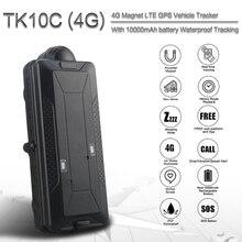 TK10C ile 4G gps izci için su geçirmez araç 10000MAH gps navigator gerçek zamanlı araba gps tracker uzun süre bekleme gps izci
