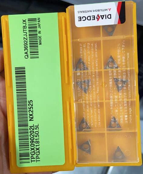 TPGX090202L NX2525 10pcs/lot Original High Quality CNC Lathe Tools For Steel CNC Inserts TPGX090202L NX2525