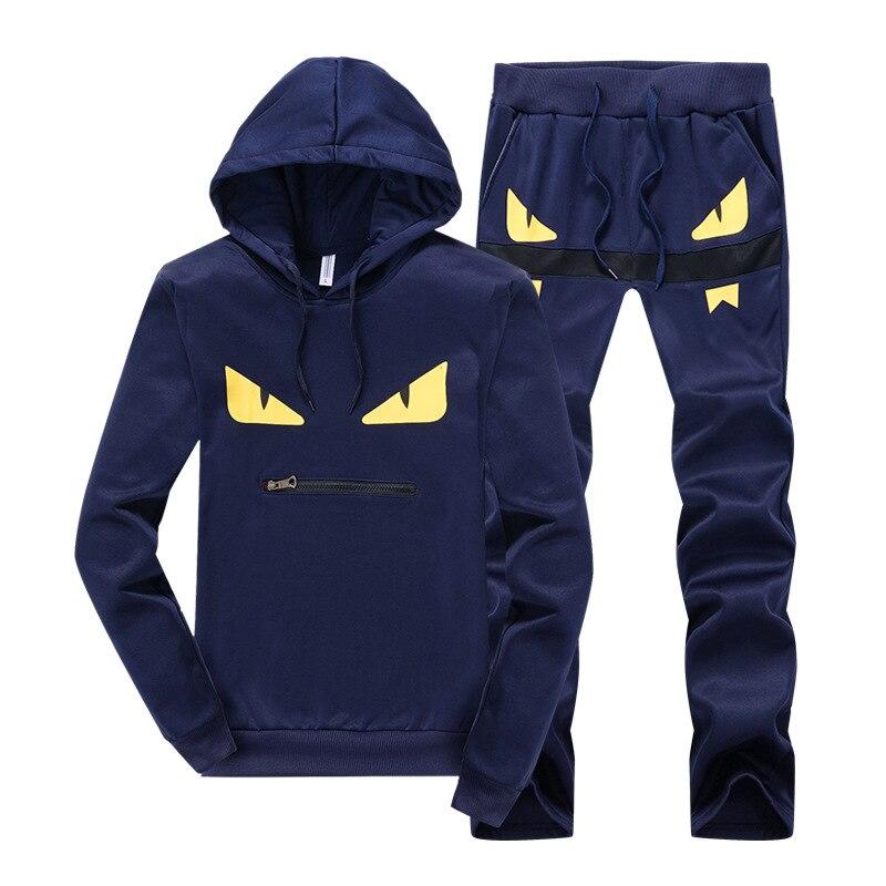 2019 Men Lian Cap Leisure Suit Men's Youth Sports Suit Male Small Monster Lian Cap Suit Hoodie