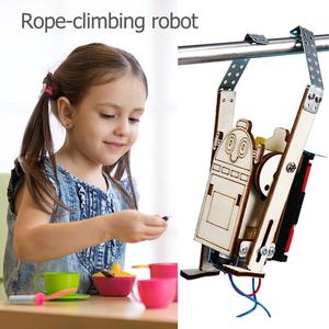 Children Educational Model Building Kits Robot Rope Climbing Model Experiments Kit Kids DIY Science Discovery Toys