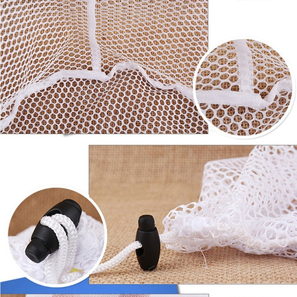 Laundry Mesh Bags Drawstring Net Laundry Saver Mesh Washing Pouch Strong Washing Machine Household Cleaning Tools