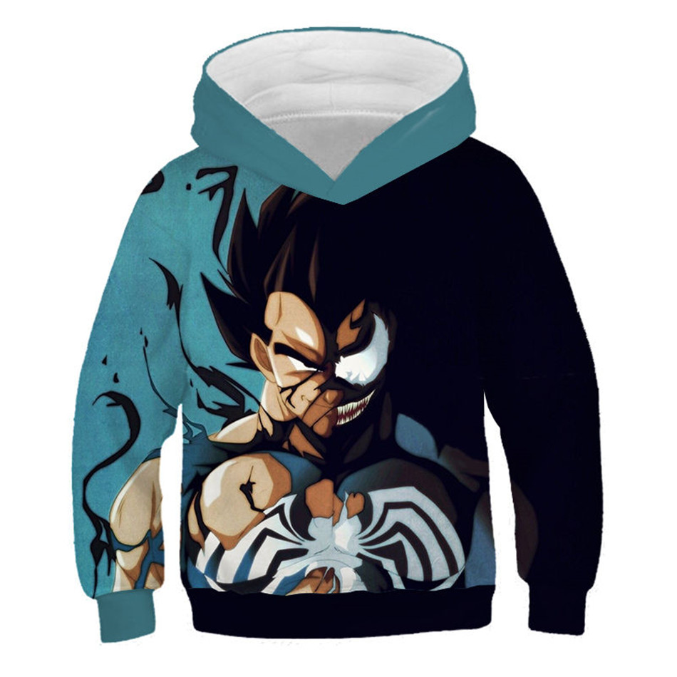 Kids Boy Girl Dragon Ball Z Vegeta Son Goku 3D Hoodie Pullover Jumper Sweatshirt