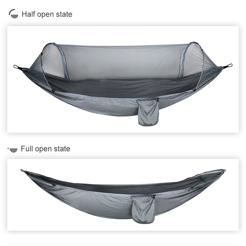 Single-person Outdoor Camping Hammock With Mosquito Net  Improved Mosquito-proof Hammock Travel Sleeping Swing Hanging Bed
