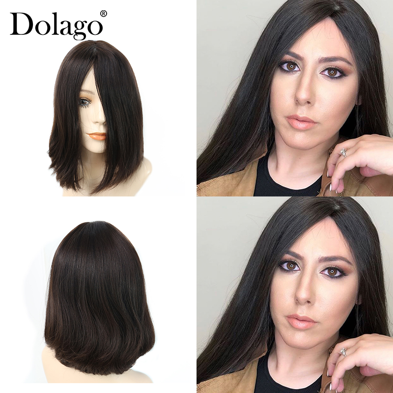 Dolago Jewish Wig Kosher Wigs Best Quality Silk Base Soft Virgin European Human Hair Wigs Double Drawn