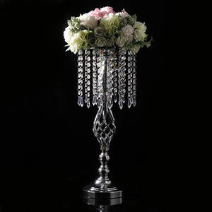 Vase Candle-Stand Curtain Flower-Bracket Crystal-Bead Wedding-Props Otation Christmas-Gift