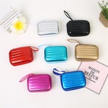 1PC Unisex Gadget Storage Box Portable Digital 3C Cashier Earphone Jewelry Coin Purse Mini Luggage six Colors Available