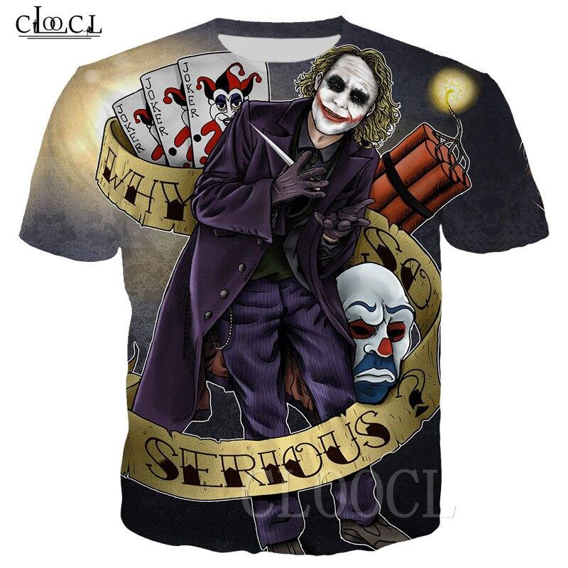 Bomb Joker T-shirt Men/Women Casual Hip Hop Shirts 3D Print Movie Joker Clown Funny Anime Tshirt Men's Sweatshirt Sport Tee Tops