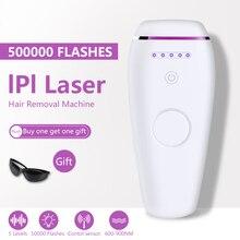Depiladora láser Flashes IPL 500000, depiladora permanente con Touch para cuerpo, piernas, recortador de Bikini, fotodepiladora para mujeres