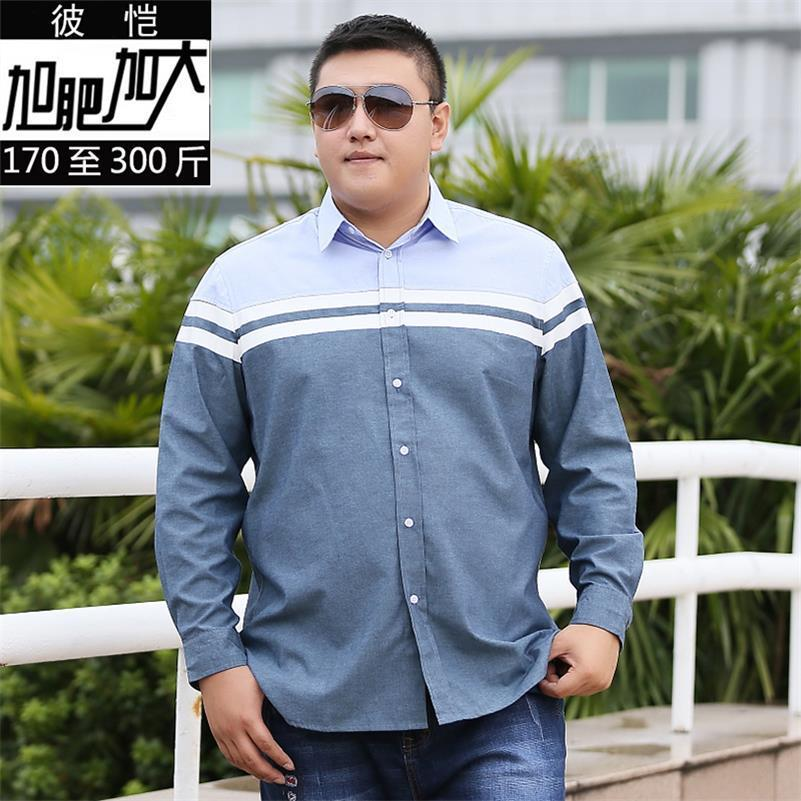 Plus Size  8XL 7XL 6XL New Men Shirts Business Long Sleeve Turn-down Collar Cotton Male Shirt Slim Fit Popular Designs Big Size
