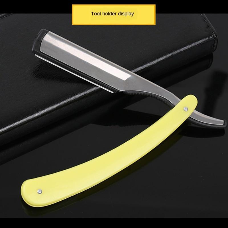 Hair Razor Manual Old-fashioned Razor Blade Holder Hairdressing Shave Blade Men Shaving Barber Tool G0216