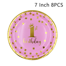 Hot Boys Girls Paper Happy Birthday Disposable Party Tableware Supplies
