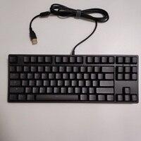 Rk tenkeyless tkl preto 87 teclado mecânico cereja marrom azul interruptores rk87 teclado de jogos branco led backlit nkro