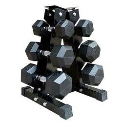 Новинка 2020, 1 шт., прочная стальная стойка для гантелей, для занятий спортом, съемный тренажерный зал, 6 рук, для фитнеса, для тренажерного зала...