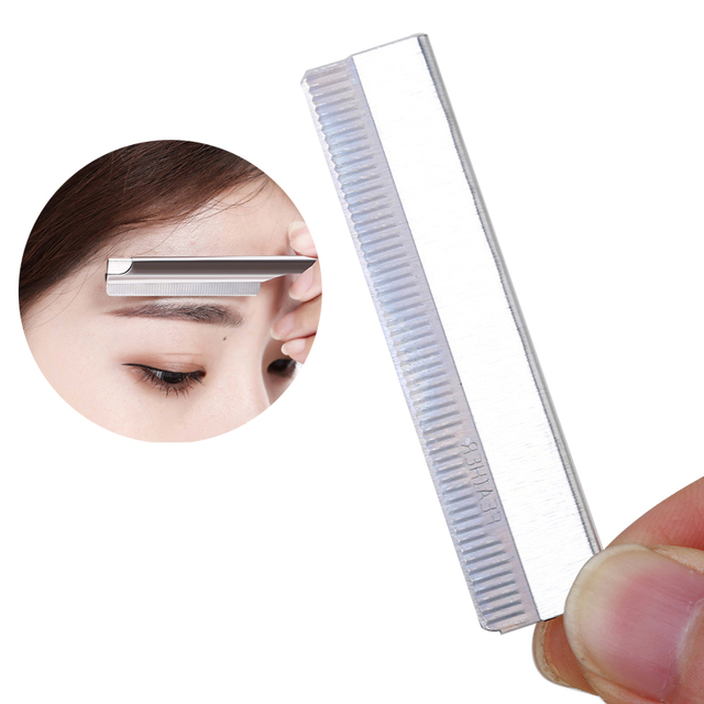 Women Lady Girls Eyebrow Stencil Waterproof Eye Brow Pencil Pen Eyebrow Trimmer Scissors Shaver Hair Removal Makeup Tools 4