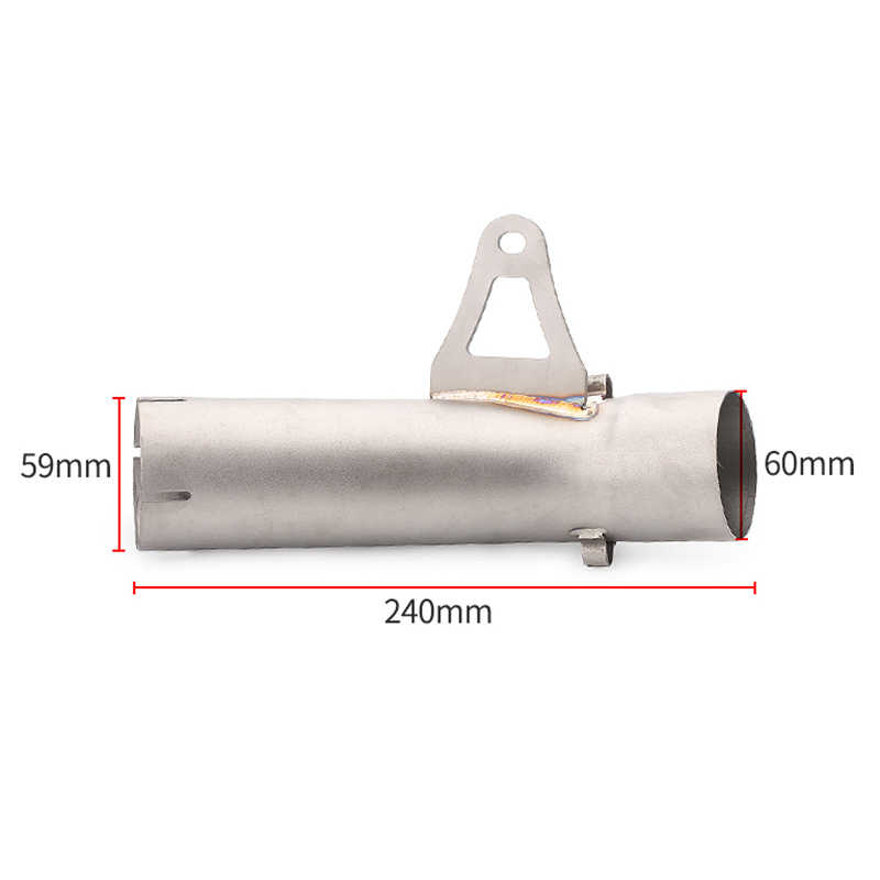 Modyfikacji środkowa rura wydechowa motocykla końcówka tłumika motocyklowego podłącz Link środkowa rura ucieczki dla S1000 S1000RR 2008-2018