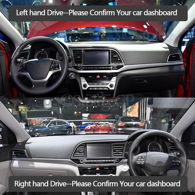 Für Hyundai Elantra 2016 2017 2018 2019 AD Avante Anti-Slip Matte Dashboard Abdeckung Pad Sonnenschirm Dashmat Anti-Uv Teppich zubehör