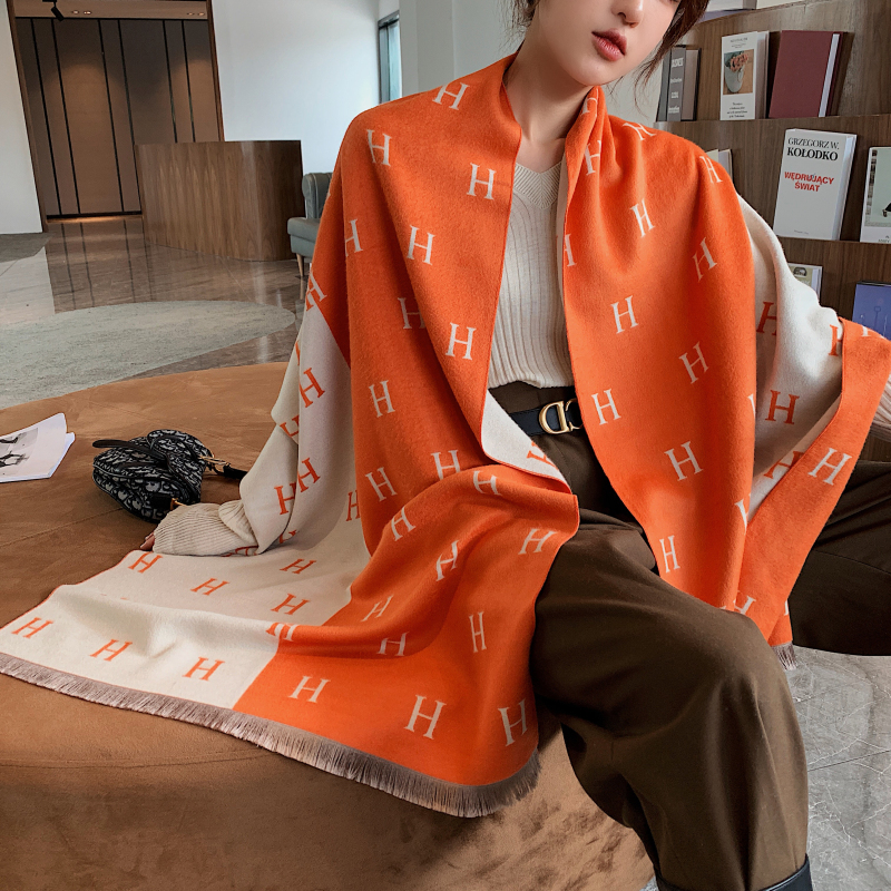 Winter Scarf Lady Cashmere Shawls Pashmina Women Scarves Wraps High Quality Print Brand Thick Warm Blanket Female Foulard 2020(China)