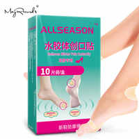 Heel Blister Cushions Cushioned Bandage with Gel Guard Pads for Foot, Toe, Relieves Blister Pain Prevention & Recovery-10 Pcs