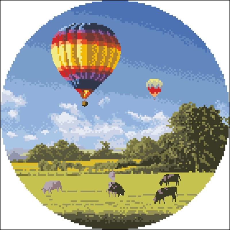 A hot air balloon 热气球