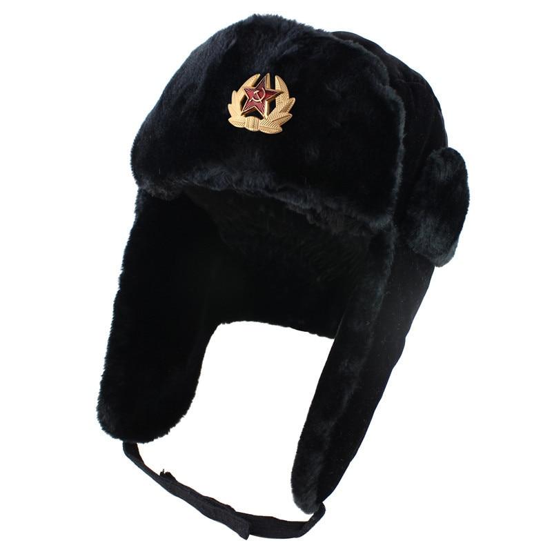 Зимняя уличная ветрозащитная и морозостойкая шапка Lei Feng утолщенная защита ушей русская теплая шапка
